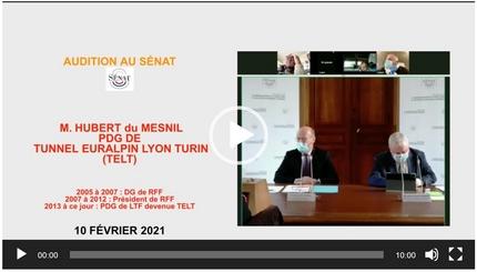 Projet Lyon-Turin : Les mensonges de TELT en audition au Sénat – ép. 1