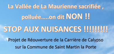 Read more about the article C'est toujours non au projet de réouverture de la Carrière de Calypso !