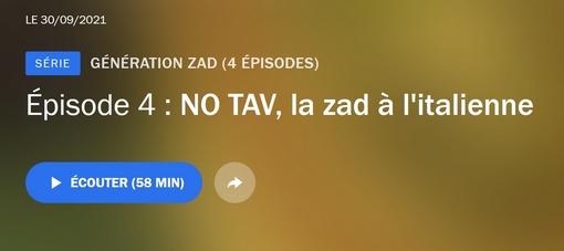 Read more about the article Génération ZAD : NO TAV, la zad à l'italienne (podcast France Culture – 58′)